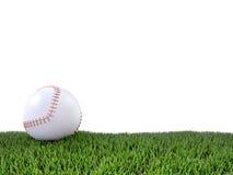 3d Baseball on grass. 3d render of a baseball on grass Stock Image