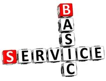3D Basic Service Crossword Stock Photo