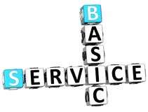 3D Basic Service Crossword Royalty Free Stock Image