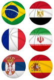 3D basketball balls with group A teams flags, Spain 2014 Stock Images