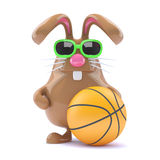 3d Basketball bunny Stock Image