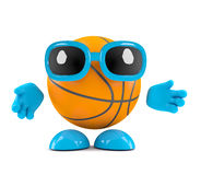 3d Basketball character. 3d render of a basketball character arms outstretched Royalty Free Stock Photos