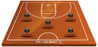 3d basketball court. Illustration of 3d basketball court Royalty Free Stock Image