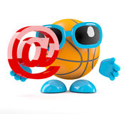 3d Basketball email Stock Photo