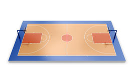 3d basketball field. On white background. 3d illustration Royalty Free Stock Photo