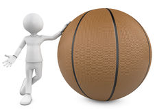 3d basketball, player and ball Royalty Free Stock Photos