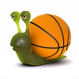 3d Basketball snail Royalty Free Stock Image