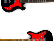 Bass and guitar background. 3d Bass and guitar background Royalty Free Stock Photo