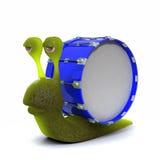 3d Bass snail. 3d render of a snail with bass drum shell Stock Photography