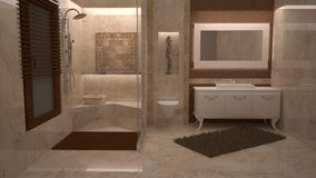 3D bathroom Stock Images