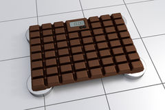 3D Bathroom Scale - Chocolate Design. (Realistic 3D Render Royalty Free Stock Image