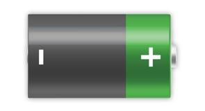 D batterij vector illustratie