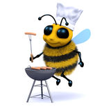 3d BBQ Bee. 3d render of a bee havin a barbeque Stock Photo