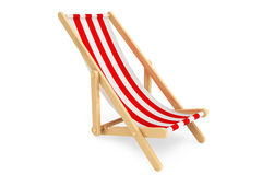3d beach chair. On a white background Royalty Free Stock Images