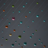 3D Beads on String Background. 3D plastic beads on a string as a background Royalty Free Stock Photo