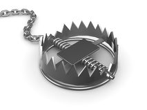 3d Bear trap Stock Photos