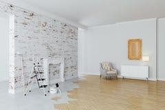 3d beautiful interior room. Work in progress stock illustration