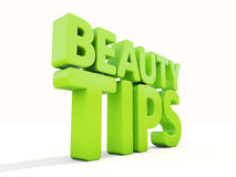 3d Beauty tips Royalty Free Stock Photos