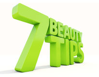 3d Beauty tips. Beauty tips con on a white background. 3D illustration Stock Photography
