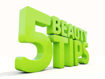 3d Beauty tips Royalty Free Stock Images