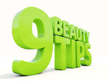 3d Beauty tips. Beauty tips con on a white background. 3D illustration Royalty Free Stock Photography