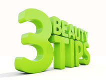 3d Beauty tips. Beauty tips con on a white background. 3D illustration Royalty Free Stock Images