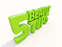 3d Beauty tips. Beauty tips con on a white background. 3D illustration Royalty Free Stock Photos