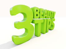 3d Beauty tips. Beauty tips con on a white background. 3D illustration Royalty Free Stock Image