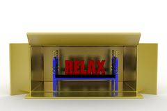 3d bed relax Royalty Free Stock Photo