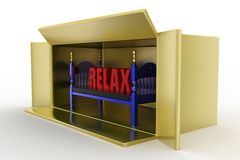 3d bed relax Stock Photography