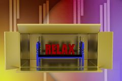 3d bed relax illustration Stock Image