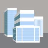 3D Bedrijfsgebouwen Stock Foto