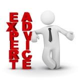 3d bedrijfsmens die concept deskundige voorstellen advicet royalty-vrije illustratie