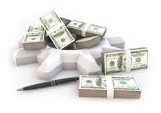 3d Bedrijfsmotor van investering Royalty-vrije Stock Afbeelding