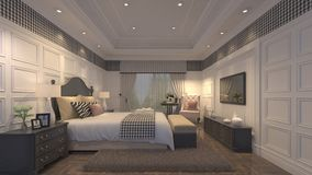 3D bedroom royalty free stock image