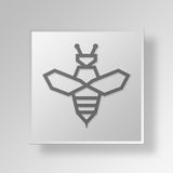 3D bee icon Business Concept Royalty Free Stock Photography
