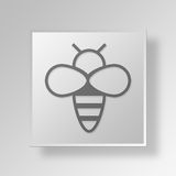 3D bee icon Business Concept Stock Image