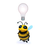 3d Bee idea Stock Photos