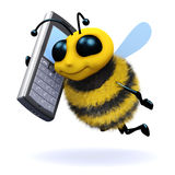 3d Bee mobile Royalty Free Stock Images