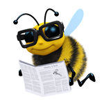 3d Bee news Stock Images