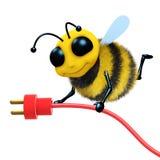 3d Bee plug vector illustration