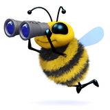 3d Bee searches vector illustration