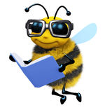 3d Bee student Royalty Free Stock Photos
