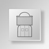 3D Beekeeper icon Business Concept. 3D Symbol Gray Square Beekeeper icon Business Concept Royalty Free Stock Photos