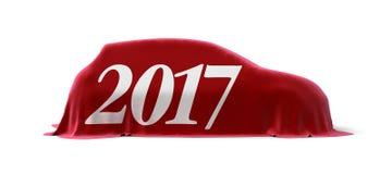 3d beeld van de auto van 2017 Royalty-vrije Stock Afbeeldingen