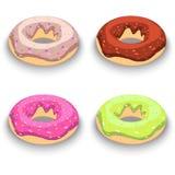 3-d beeld van donuts banketbakkerij stock illustratie