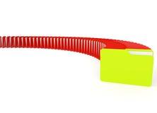 3d beeld van een groene en rode dossieromslag Stock Afbeelding