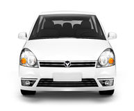 3D Beeld van Front View van Witte Auto Stock Fotografie