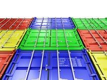 3d beeld van kleurrijke container Royalty-vrije Stock Fotografie