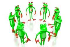 3D beeldverhaalkikkers - teamconcept Royalty-vrije Stock Afbeeldingen